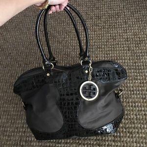 Tory Burch Amalie chocolate brown satchel handbag